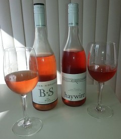 BS and Haywire Rose wines