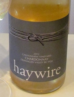 Haywire Canyonview Vineyard Chardonnay 2012 label