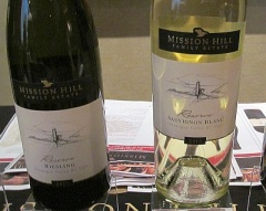 Mission Hill Family Estate Reserve Riesling and Sauvignon Blanc